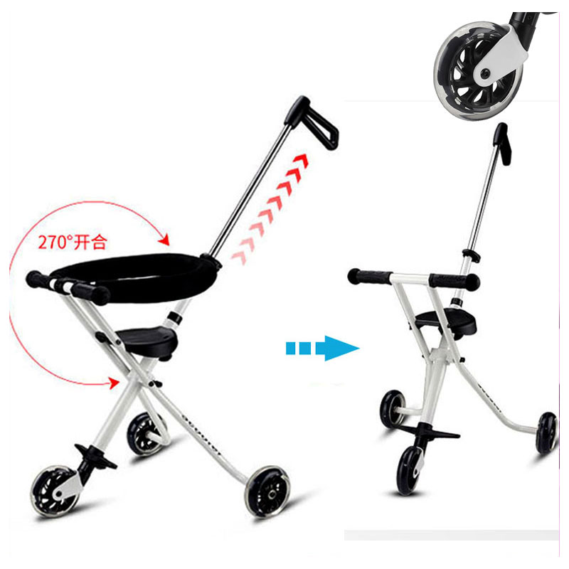 Three Wheels Portable Lightweight Baby Stroller Light