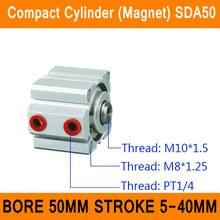 SDA50 Цилиндр Магнит ПДД Серии Диаметр 50 мм Ход 5-40 мм Компактный Цилиндры Воздуха Двойного Действия Воздуха Пневматический цилиндр ISO Сертифицированных