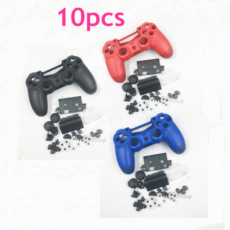 E house 10pcs Red Blue Black Color Controller Skin Housing Shell Cover Case for Playstation 4