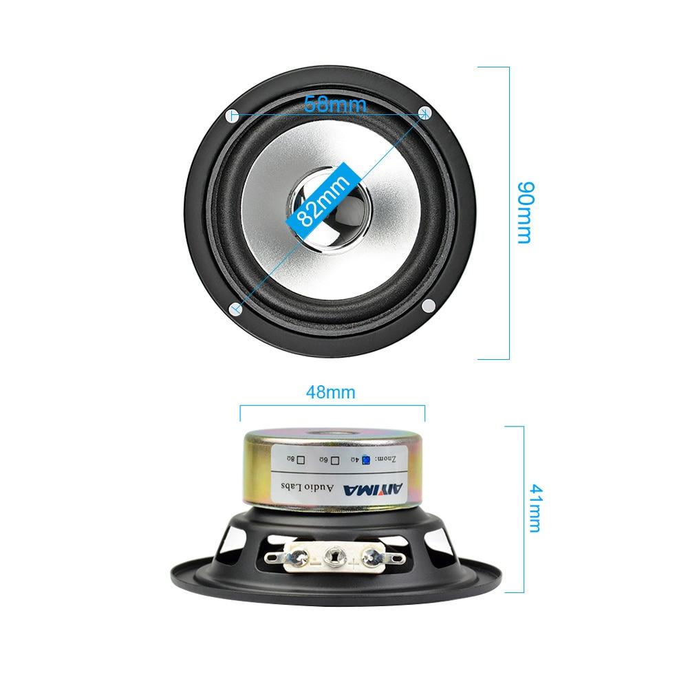 AIYIMA 2Pcs 3Inch 4 Ом 10W Толық ауқымды Tweeter - Портативті аудио және бейне - фото 5