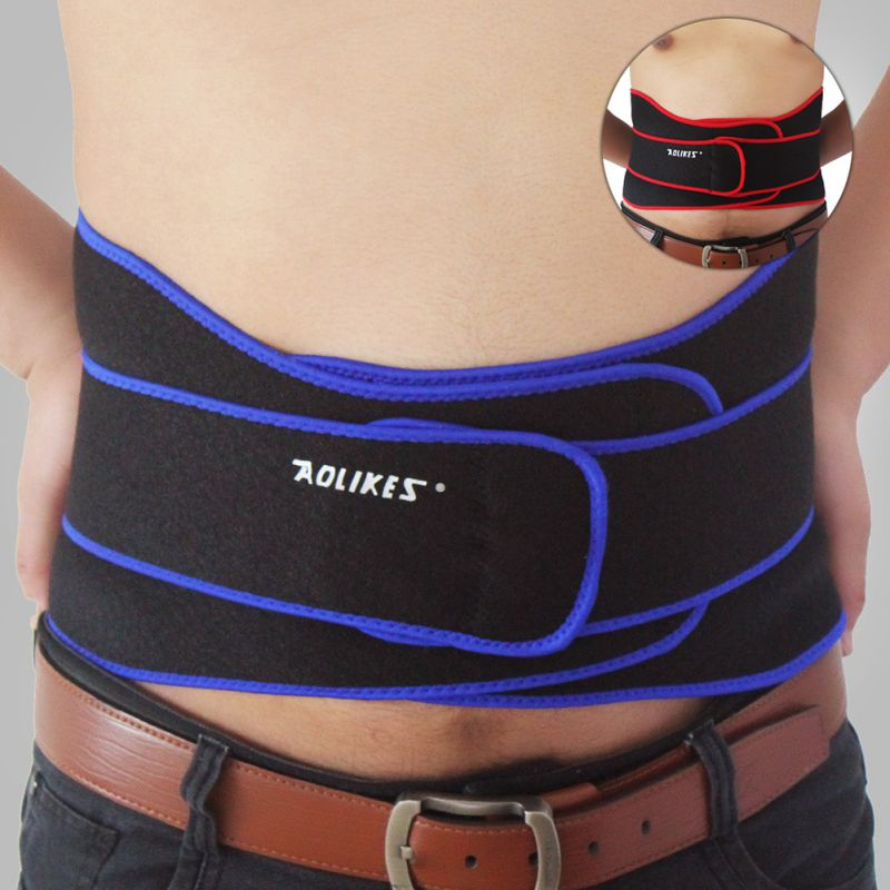 Professional Men Women Adjustable Slimming Exercise Belt Breathable Weight Back Brace Waist Support Workout Fitness Supplies