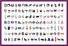 120pcs Animals Designs Tattoo Stencils For Temporary Airbrush Tattoo and Body Painting Golden Phoenix Template Book 19 Hot Slae