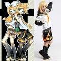 Anime VOCALOID anime cosplay Kagamine Len cosplay traje de halloween Vocoloid Espejo Dicotiledóneas Cosplay Completo conjunto de Navidad