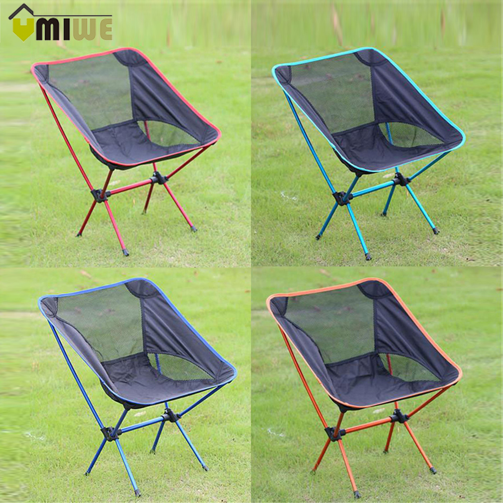 Portable aluminum outdoor folding camping fishing chairs for Best folding chairs outdoor