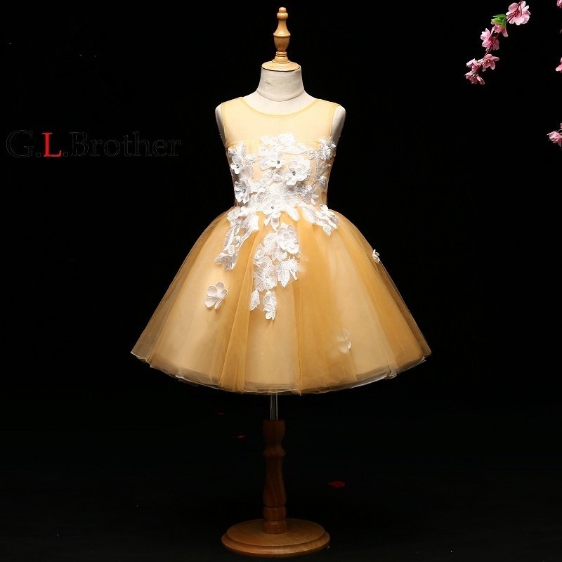 Luxury Ball Gown Flower Girl Dresses Wedding Gowns Floral Holy Communion Dress For Little Girls Lace Up Embroidery Party Dress все цены