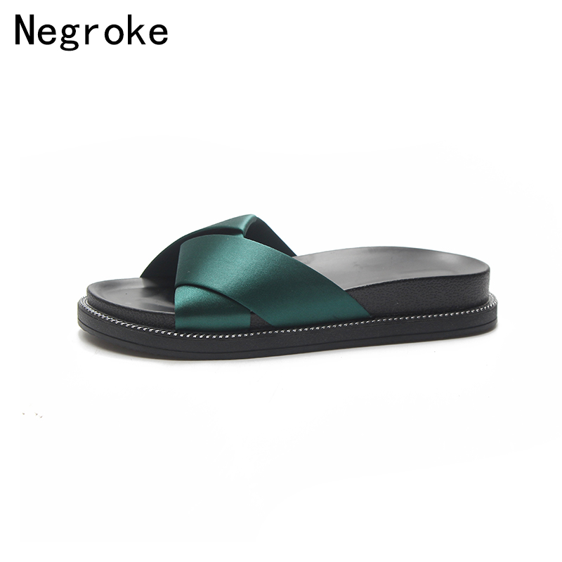 2018 New Spring Summer Slippers Women Sandals Peep Toe Silk Strap Flip Flops Platform Slides Outdoor Beach Shoes Woman Stuffies women sandals 2018 summer shoes woman flip flops wedges fashion platform female slides ladies shoes peep toe