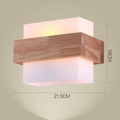 aliexpresscom comprar lmparas de pared de madera de estilo del norte de europa lmparas led de pared de luz para el hogar iluminacin saln lmpara de