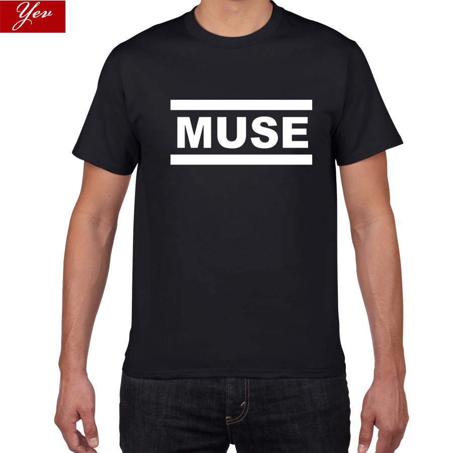 2019 New Muse T Shirts Menstreet Wear Tshirt Men Summer 100% Cotton T-shirts Tops Rock Band T-Shirts Men Clothes Free Shipping