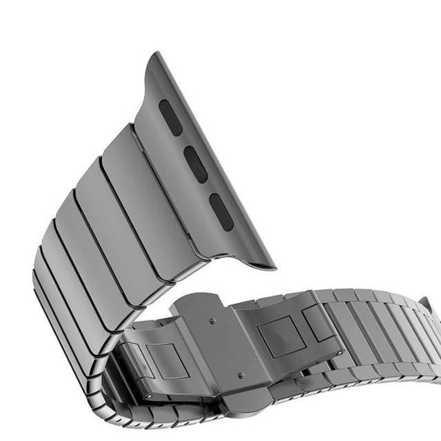 Strap for Apple Watch Band 42mm 38mm Series 3 2 1 Stainless Steel Mens Business for iwatch Bands Watchband Straps Gold Silver   Fotoflaco.net