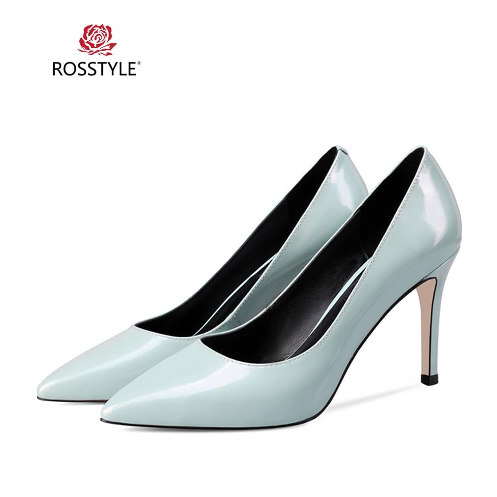 Mujer Y Delgado Lujo Rosstyle De Oveja Sexy blue Puntiagudo Zapatos X18 Tacón Clásicos Dedo Moda Calidad Bombas Black Piel Alto Pie Del Sólida Elegante WqHUqnFI