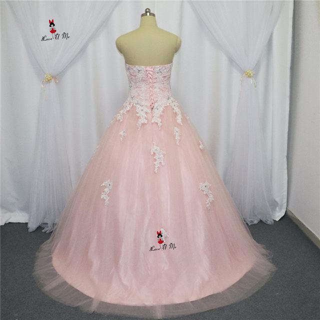 Online Shop Pink Cheap Quinceanera Gowns Plus Size Lace Quinceanera