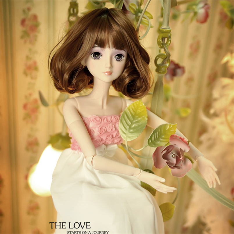 60cm Large BJD Doll Toys Cosplay Rapunzel Dress Wig Clothes Shoes Makeup Fashion SD Doll Princess Resin Joints Toys For Girl