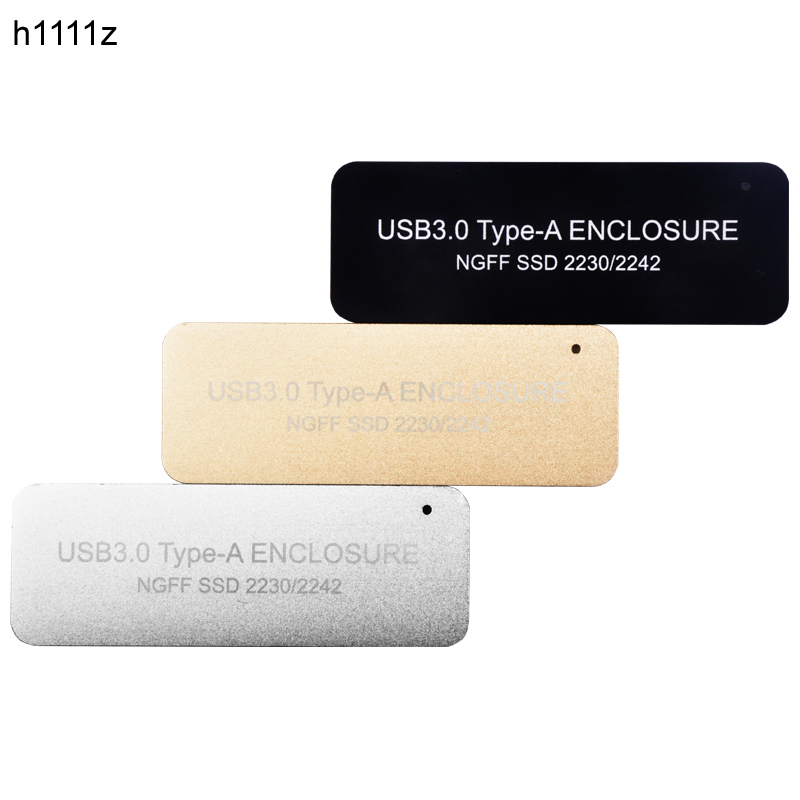 HDD Case USB3.0 TYPE-A TO NGFF M2 SSD Disk Hard Drive Enclosure B Key Connector M.2 SSD USB Adapter Support 2230 2242 Hard Drive