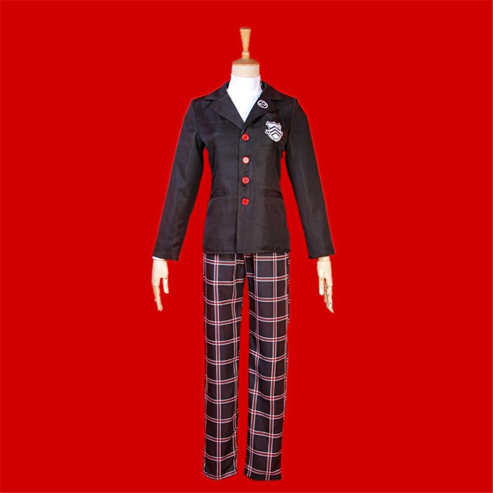 Anime Cosplay Persona 5 Cosplay Costume Akira Kurusu / Ren Amamiya School Uniform For Unisex Coat + Top + Pants Uniform Set