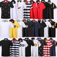 POLO GG Italy classic fashion classic luxury designer brand new men's short sleeve embroidery letters men's POLO shirt gg