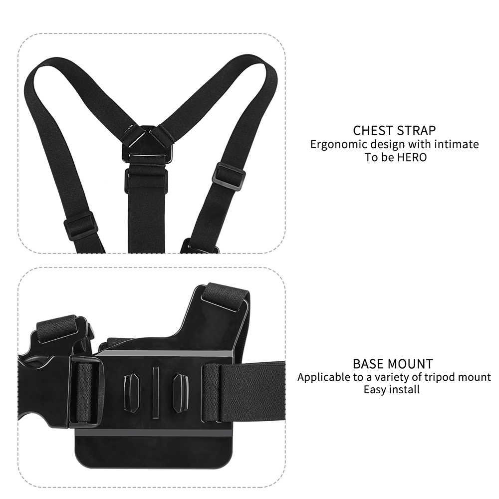 Нагрудный ремень крепления ремня для экшн-Камеры Gopro hero 7 6 5 спортивной экшн-камеры Xiaomi yi 4 K Экшн-камера нагрудный держатель для Gopro SJCAM SJ4000 Спортивная водоотталкивающая Камера Gopro Фикс