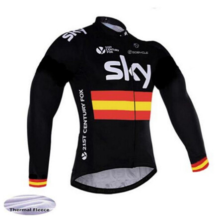 SKY 2018 Winter Thermal Fleece Pro Team Cycling Jersey Long Sleeve Bicycle Clothing Ropa Ciclismo Cycling Outdoor sports shirt