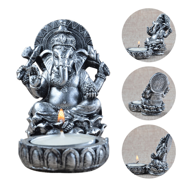 Resin Elephant God Candlestick Candle Holder Home Decor Candle Holders Christmas Decorations for Home  Moroccan Lanterns 50XX130