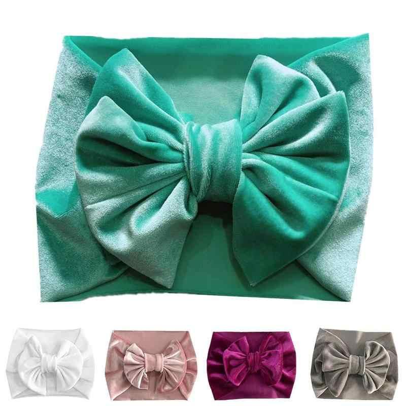 Мягкие пижамы для малышей/детский малышовый комплект для маленьких девочек; ободок для волос с бантом, головная повязка тюрбан крупной вязки голова-Обёрточная бумага PSC1026