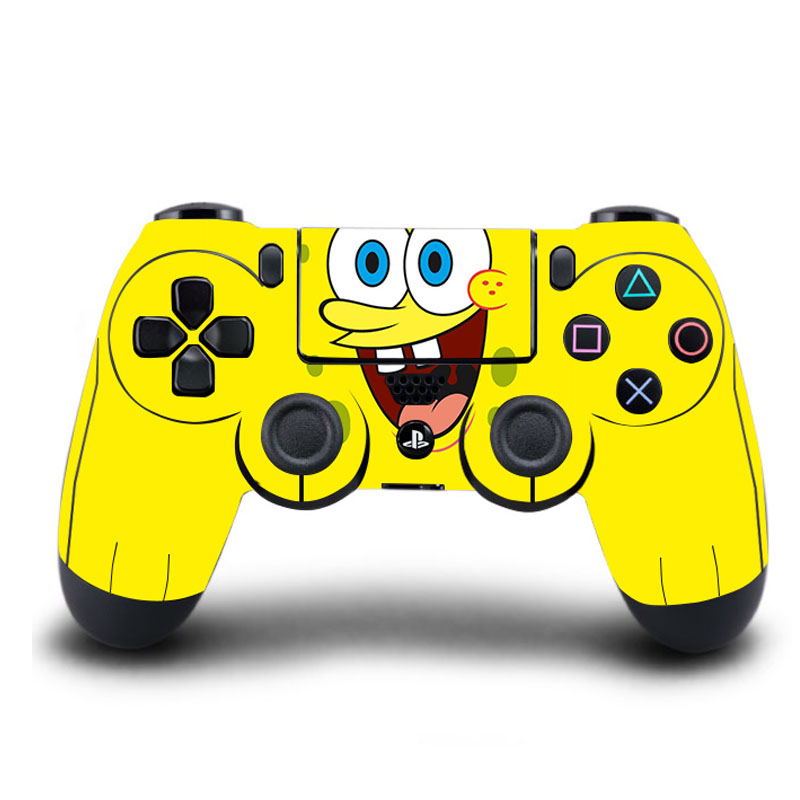 HOMEREALLY PS4 Controller Skin Spongebob PVC HD PS4 Sticker Cover For Sony PlayStation 4 Wireless Controller Skin PS4 Accessory(China)