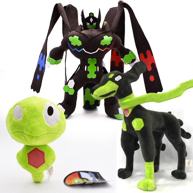 3 Styles Anime Cartoon Core Zygarde 10% Form $ Gestalt Zygarde Mega Evolution  Animal Stuffed Plush Quality Toys For Children