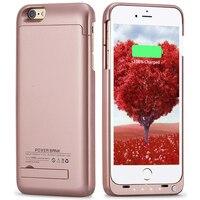 Ince Harici iPhone 6 artı 6sp için 5.5 inç 4000 mAh Şarj Edilebilir Pil Kutusu Koruyucu Meyilli Vaka bankası kılıf için iPhone6p/6sp