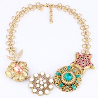 Min Order Is 15 Mix Order New Fashion Luxury Flower Design Necklace Free Shipping