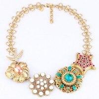Flügel Yuk Tak Begrenzte Trendy Ketten Maxi Halskette Collier Collares New Fashion Luxus Blume Halskette Zubehör Großhandel