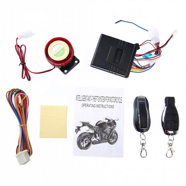 Moto Moto Anti-roubo Sistema de Alarme de Segurança de Controle Remoto Engine Start 12 V Anti-linha de corte