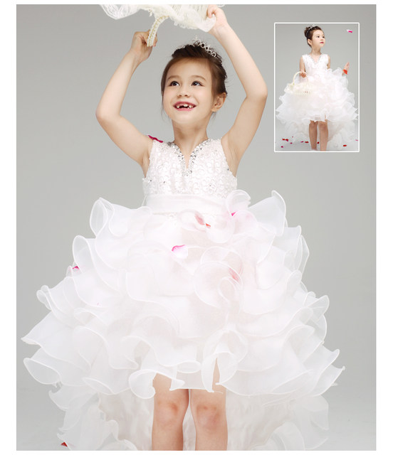 Wedding dress with train for baby