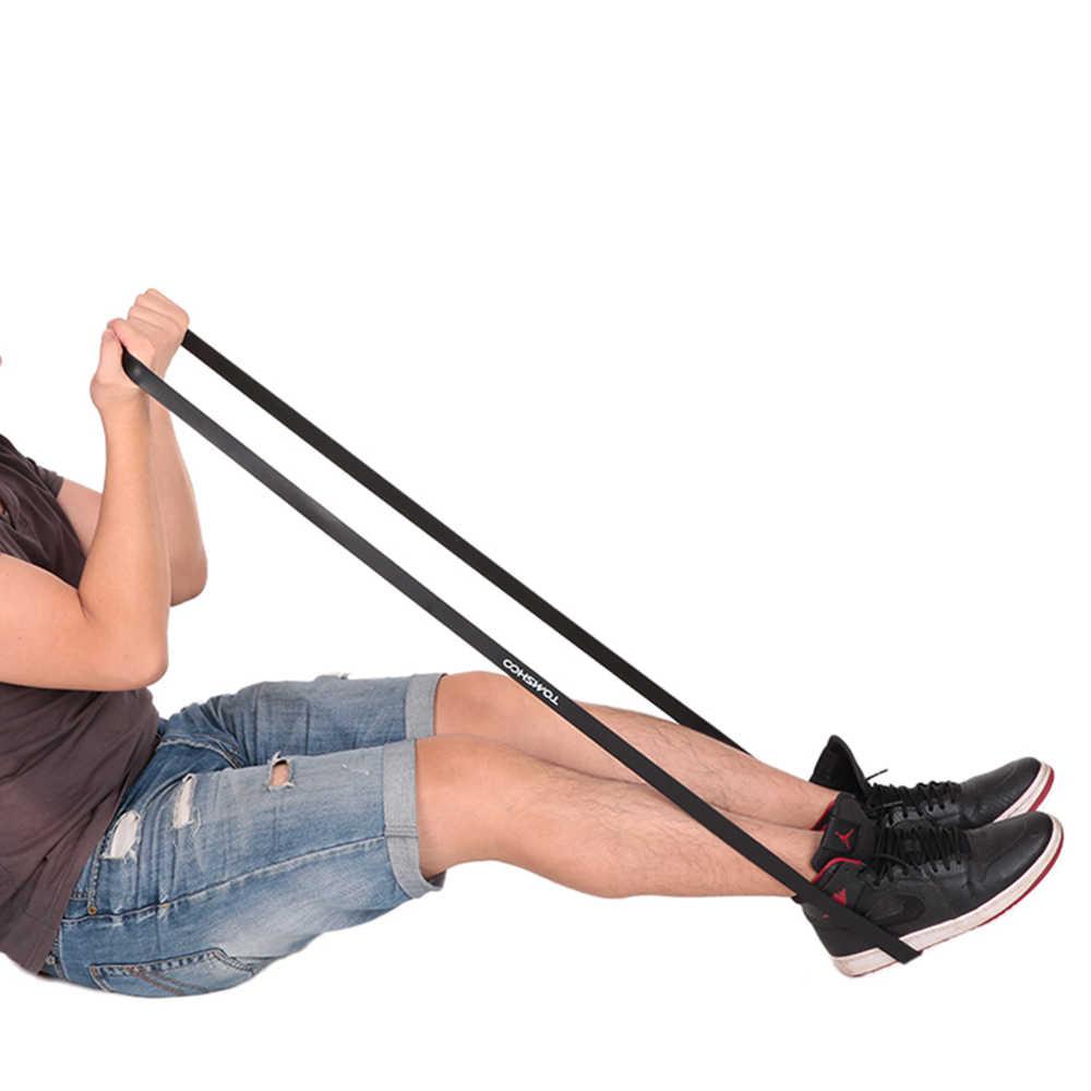TOMSHOO 208cm taśmy sportowe Pull Up Assist zespół odporność na rozciąganie zespół trójbój siłowy jogi ćwiczenia Fitness pomoc w podnoszeniu pasek