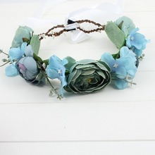 NEW Free shipping KLJH30680 60pcs /lot 6 colors 18CM Silk Silk flower headband Hawaii Dancer Summer Beach Party