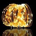 LED String Fairy Licht Girlande CR2032 AA auf Batterie Powered Kupferdraht Wasserdicht für Outdoor Weihnachten Dekoration-in LED-Kette aus Licht & Beleuchtung bei