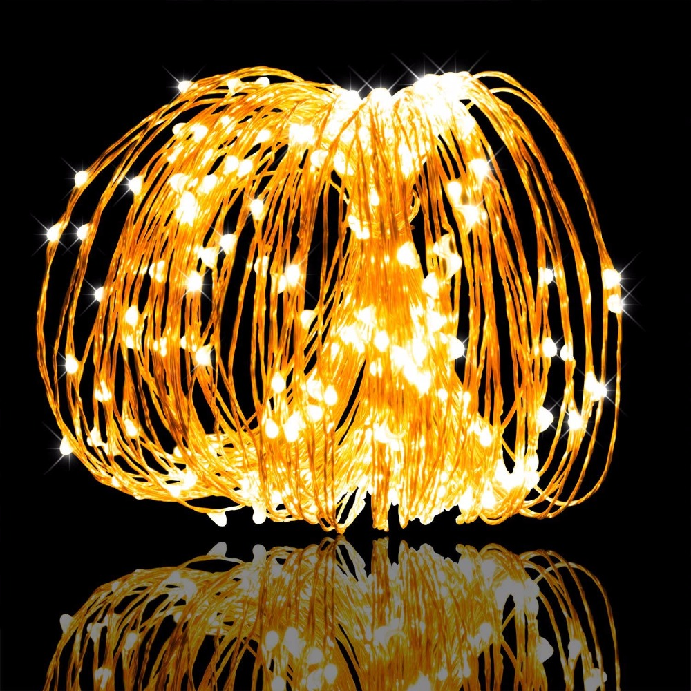 LED String Fairy Light Garland CR2032 AA On Battery Powered Copper Wire Waterproof For Outdoor Christmas Decoration