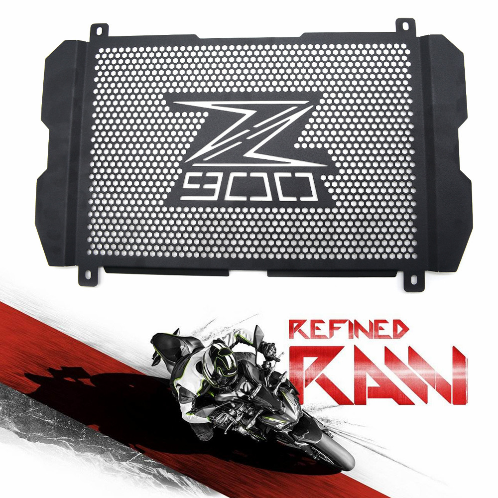 z 900 for motorcycle cover radiator grille Guard Cove for kawasaki z900 2017 Stainless steel Radiator Grill side cover with logo for kawasaki z900 2017 motorcycle radiator guard gloss stainless steel grille bezel radiator net protective cover