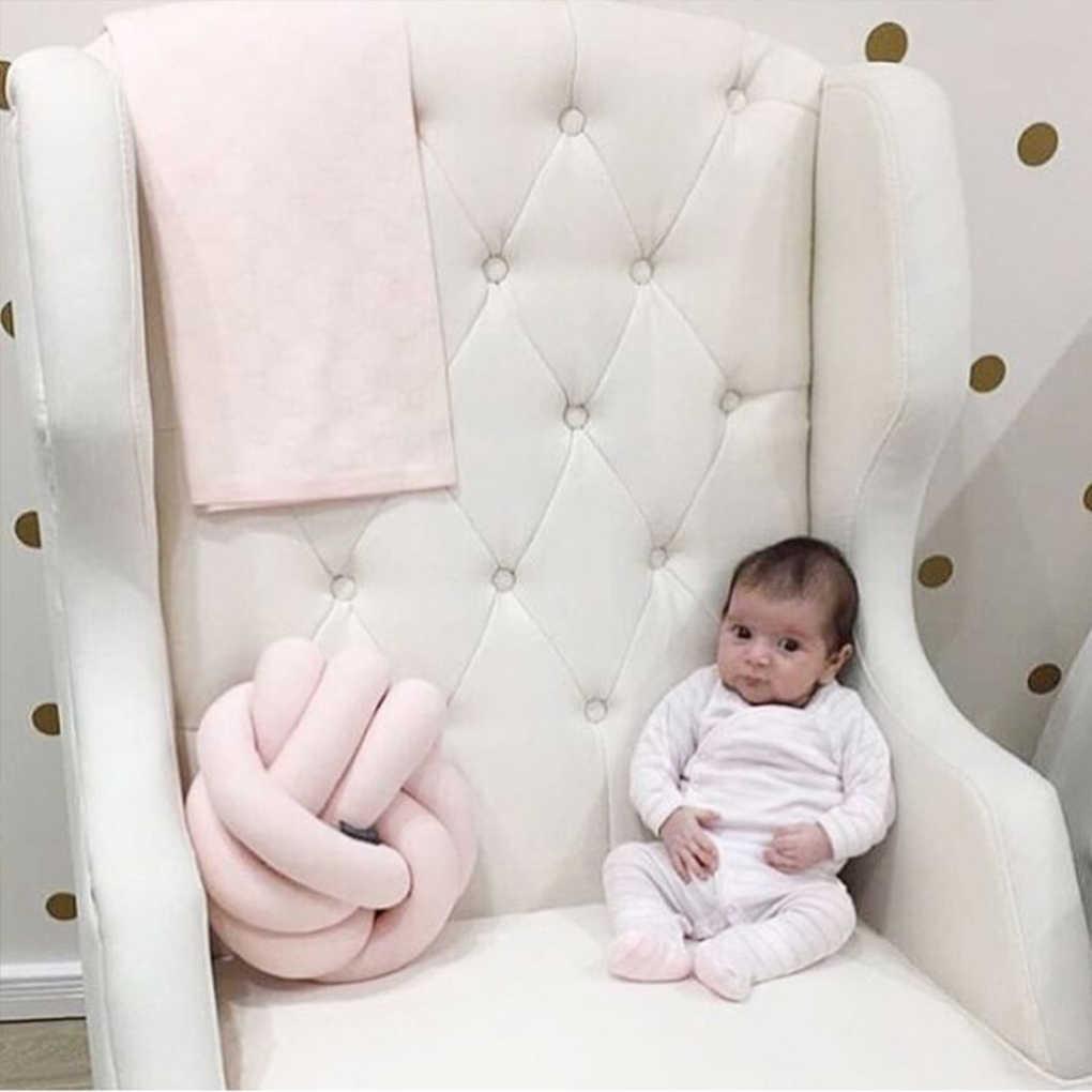 2019 bebé recién nacido nudo infantil cojín muñecas de felpa tirar almohada niños bola juguetes bebé cama parachoques