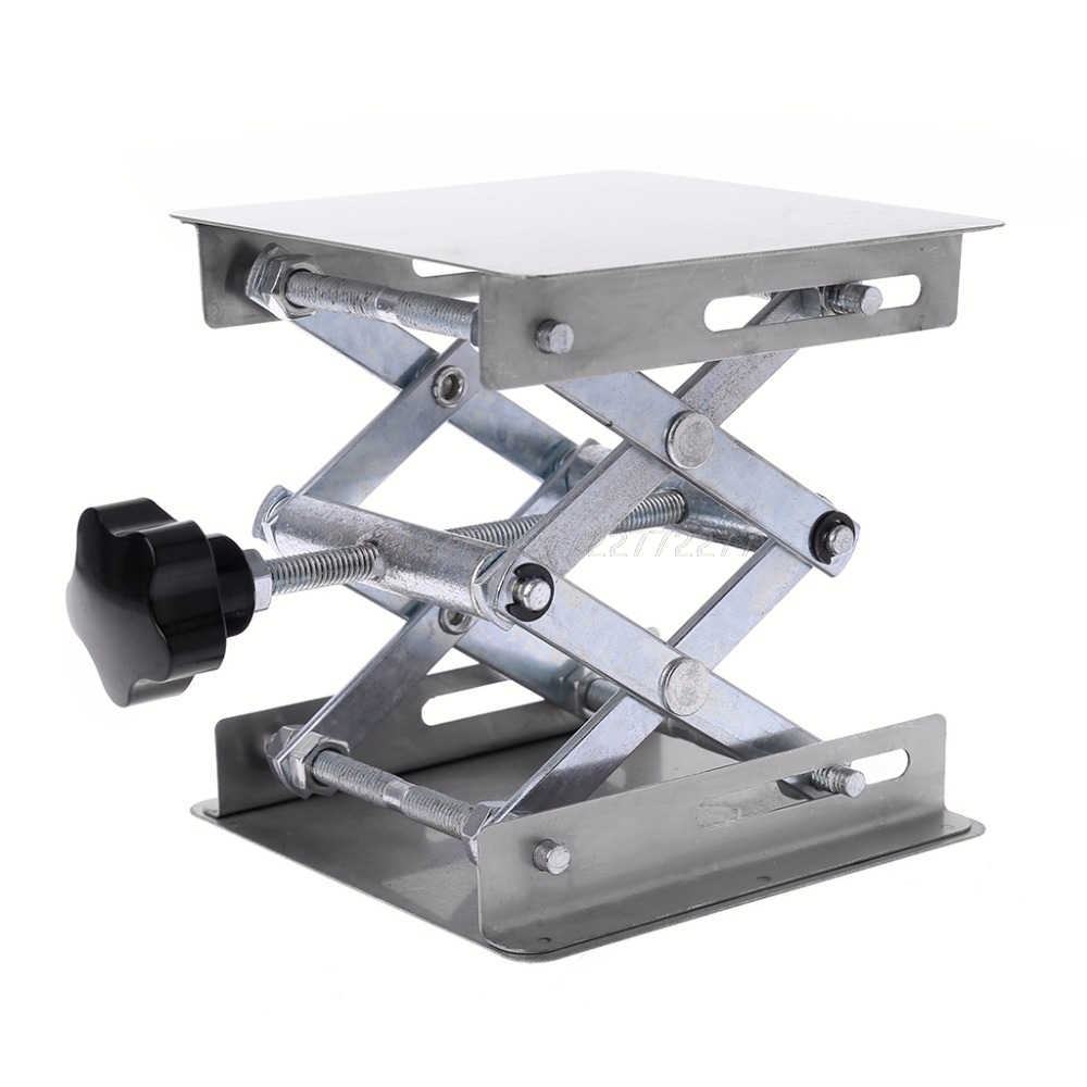 Laboratory Lifting Platform Stand Rack Scissor Jack Bench Lifter Table Lab 100x100mm Stainless Steel Lifting Platform Mr18 19