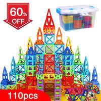 Bd 110 pçs blocos magnéticos designer magnético construção construção brinquedos conjunto ímã brinquedos educativos para crianças presente