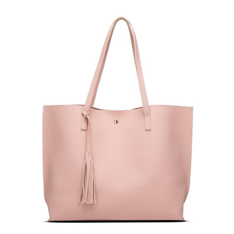 2017 lkprbd 7 colors bag luxury tassel pendant design pu women leather shoulder bags large tote. Black Bedroom Furniture Sets. Home Design Ideas