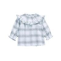 2017 Autumn Children Girl Blouse Baby Plaid Girls Shirts Girls Clothes Long Sleeve Kids Clothing Toddler