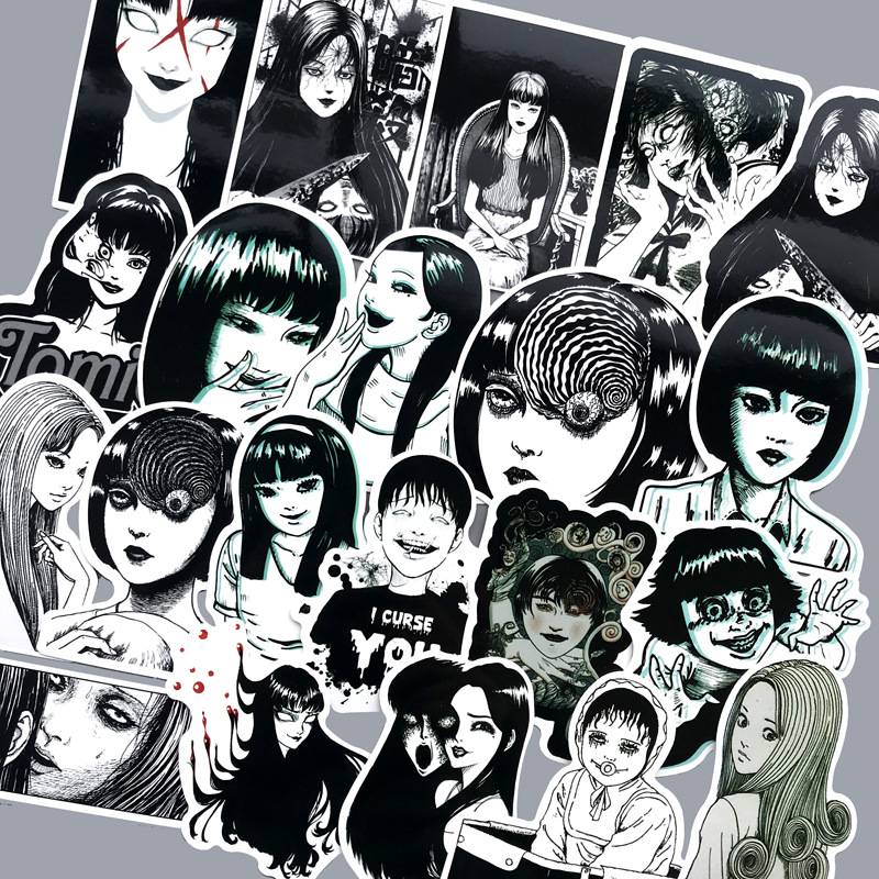 new 21pcs Black sexy girl stickers notebook skateboard stickers funny horror mobile phone stickers scary fashion pop anime in Stickers from Toys Hobbies