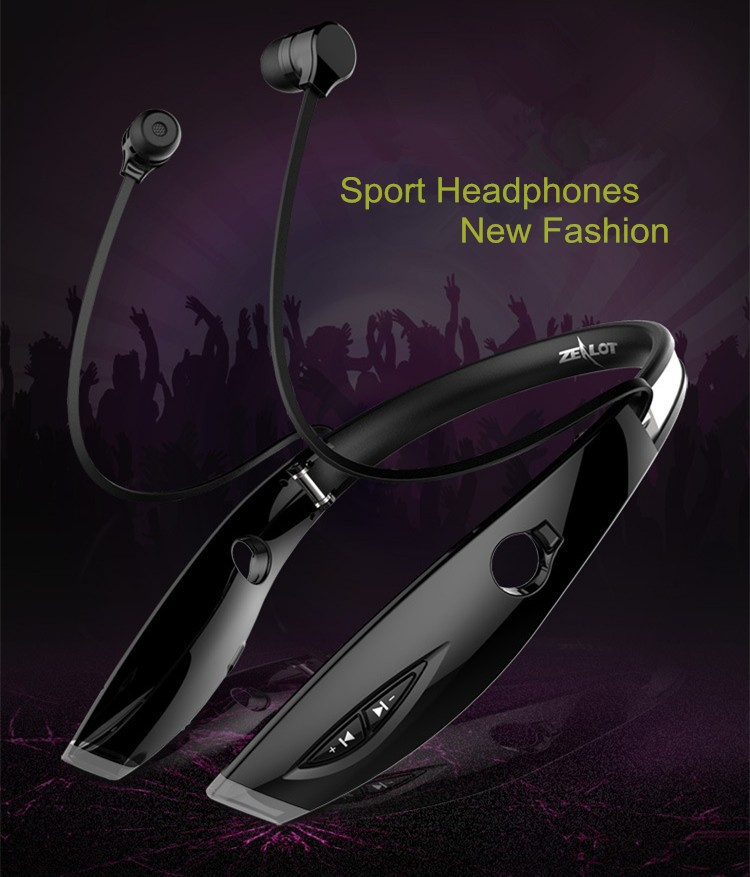 Neckband Bluetooth Sport Stereo Headset Zealots H1 HiFi Headphones With Mic For iPhoneSamsung Handfree Call (23)