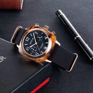 Image 4 - קלאסי ניילון רצועת גברים ספורט שעונים למעלה מותג יוקרה Skone קוורץ לוח שעון סטופר זכר צבאי שעוני יד