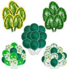 Dark Green Balloons Light Balloon Jungle party Decor Mint tropical Party Decoration kids Safari