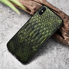 XOOMZ For iPhone XS Max Case Python Snake PU Leather Silicone TPU Slim Full Protection Back Cover For iPhone XS XS MAX XR X Case