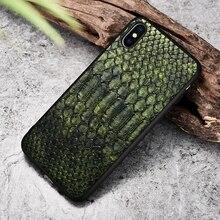 XOOMZ Per il iPhone XS Max Caso di Pitone pelle di Serpente DELLUNITÀ di elaborazione In Pelle di Silicone TPU Sottile Pieno di Protezione Della Copertura Posteriore Per il iPhone XS XS MAX XR X Caso