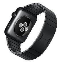 1:1 como original hebilla de correa de acero inoxidable 22mm24mm para iwatch apple watch 38mm42mm band pulsera de la correa con adaptador de enlace