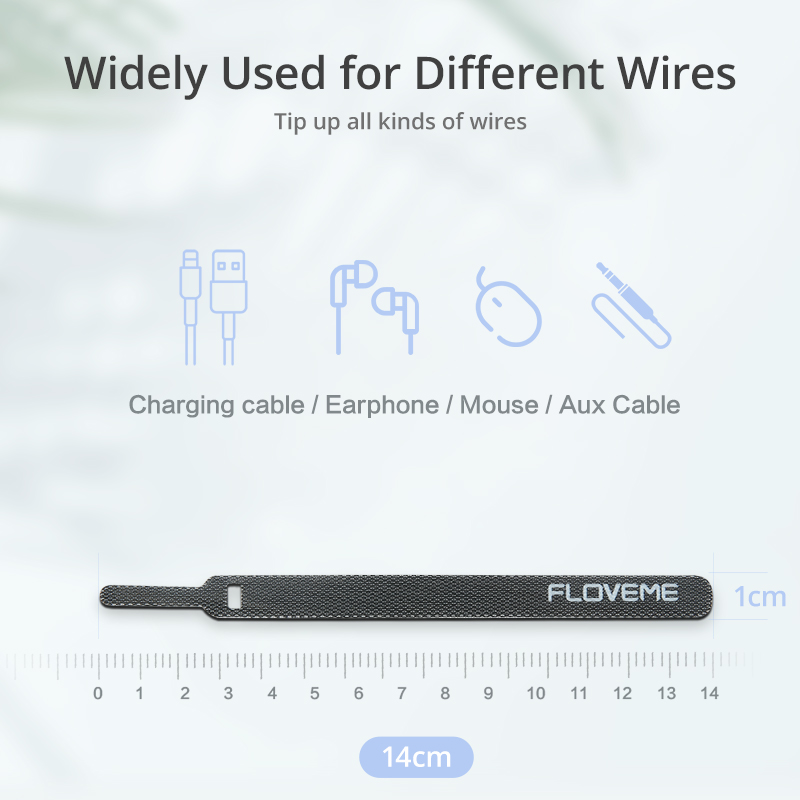 FLOVEME Cable Winder Wire Organizer Clip Cable Management Charger Computer Mouse Earphone USB Cable Holder Protector Universal