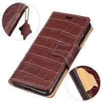 BuzzLee Genuine Leather Crocodile Pattern Flip Case For Samsung Galaxy Note 8 S8 Plus S7 Edge