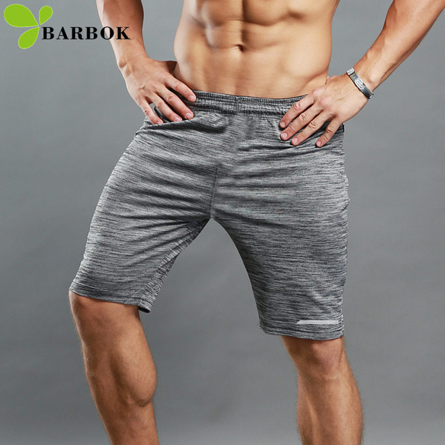 08f06812eb BARBOK Men's Sports Shorts Running Short Pants Jogging Tights Sportswear  Workout Breathable Fitness Clothing Gym Wear